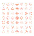 sad icons vector image vector image