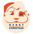 santa claus with beard minimalistic vector image vector image