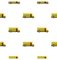 school bus pattern seamless vector image vector image