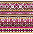 scottish fair isle traditional knitwear pattern vector image vector image