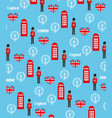 Seamless pattern background with london symbols