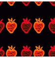 Seamless pattern of colored strawberries painted vector image vector image