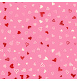 seamless pattern with hand drawn doodle hearts vector image vector image
