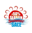season summer sale banner vector image
