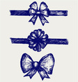 Set gift bows with ribbons vector image vector image
