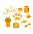 set icon pet for vet or pet shop vector image