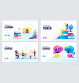 set of distance education consulting vector image vector image