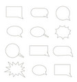 set of speech bubbles chat bubbles black line vector image
