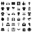 Shirt polo icons set simple style