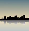 skyline dusk vector image