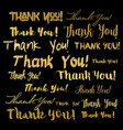 thank you thanks lettering background vector image