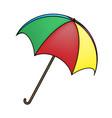 umbrella symbol icon design vector image vector image