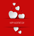 Valentine card with hearts tucked vector image vector image