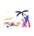 young couple spending vacation on beach woman vector image vector image