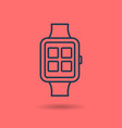 isolated linear icon of smart watch vector image