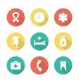 Medical flat design icons set vector image
