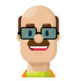 adult man wearing a mustache and eyeglasses icon vector image vector image