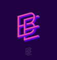b e letters monogram crossed impossible shapes vector image vector image