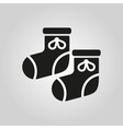 Babys bootees icon design Socks sox symbol web vector image vector image