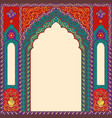 background arch res in oriental style vector image vector image