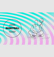 basketball player spins ball on finger vector image vector image