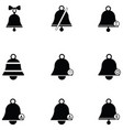 bell icon set vector image vector image