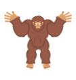 bigfoot guilty yeti surprise abominable snowman vector image vector image