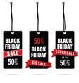 black friday big sale tag set in color vector image vector image