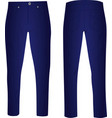 blue pants vector image vector image