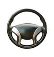 car steering wheel realistic vector image vector image