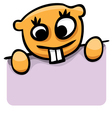 cartoon gopher with a poster vector image vector image