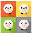 Cartoon sheep icon set vector image vector image