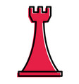 chess rook gaming figure for strategic business vector image vector image