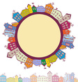 Collection of houses vintage on white background vector image vector image