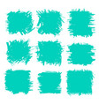 collection smears with black paint strokes vector image