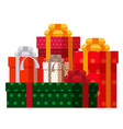 colored gift boxes with ribbons and bows vector image