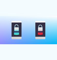 concept of phone lock smartphone locked and vector image