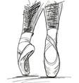dance ballerina ballet shoes vector image vector image