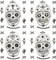 death day pattern mexico style seamless vector image vector image