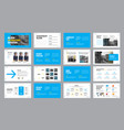 design blue and white presentation slides with vector image