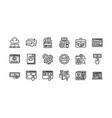digital marketing outline icons set 1 vector image vector image