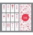 floral red mini calendar 2016 vector image