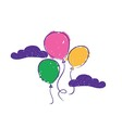 Flying Balloons vector image vector image