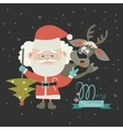 Funny Santa Claus with reindeer vector image vector image