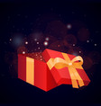 gift open gift box box present ribbon gift box vector image
