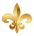 Gold fleur-de-lis ornament vector | Price: 1 Credit (USD $1)