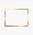 golden shiny frame vector image