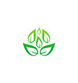 green leaf organic business logo vector image vector image
