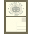 Halloween postcard template vector image