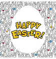 happy easter greeting card egg with happy easter vector image